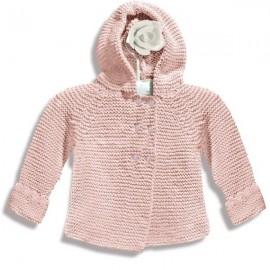 Chaqueta de lana hecha a mano rosa