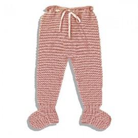 Polainas de lana hecha a mano rosa palo