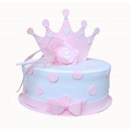 Tarta de pañales Princesa y la Estrella