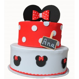 Tarta de pañales Minnie Mouse