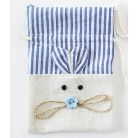 Bolsa de Jute Conejito azul