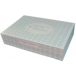 Caja bebé Azul + tarjeta felicitación (Elige tamaño)