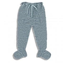 Polainas de lana hecha a mano azul