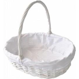 12 cestas GRANDES de mimbre blancas (precio mayorista)