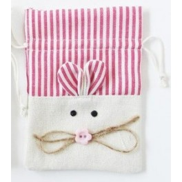 Bolsa de Jute Conejito rosa