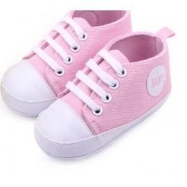 Zapatillas lona rosa