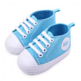 Zapatillas lona azul