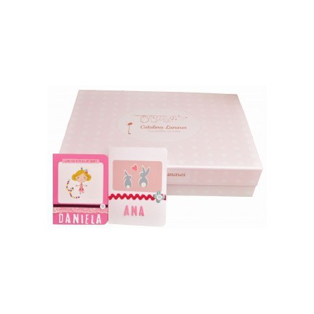 Caja bebé rosa (Elige tamaño)