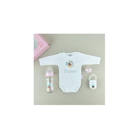 Cajita bebe personalizada body niña