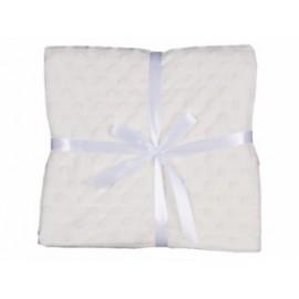 Manta topitos blanca (bordado opcional)