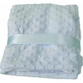 Manta topitos azul (nombre bordado opcional)