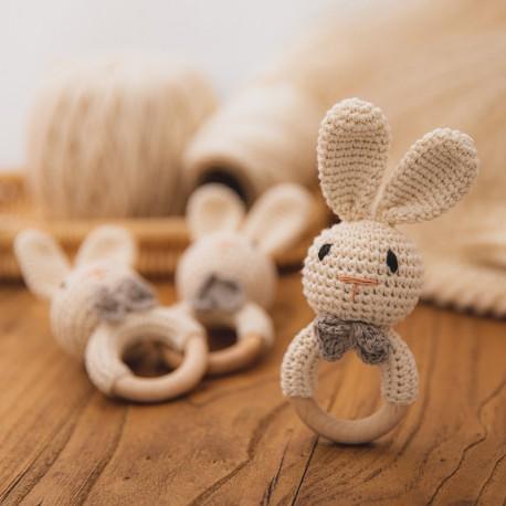 Mordedor conejo de origami hecho a mano