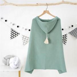 Capa de baño de algodón orgánico verde