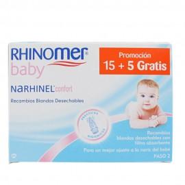 Narhinel 20 recambios blandos deshechables promocion