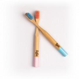 Cepillo dientes bambú con NOMBRE DEL BEBÉ