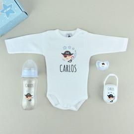 Conjunto de bebé personalizado PIRATAS
