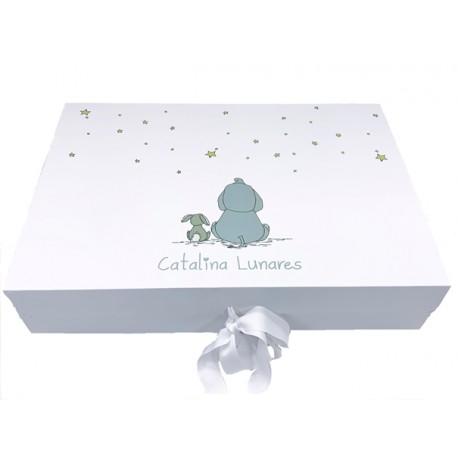 Caja bebé blanca mediana